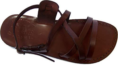 Holy Land Market Unisex-Sandalen aus echtem Leder (Jesus) Yashua-Stil II, Braun (braun), 39 EU