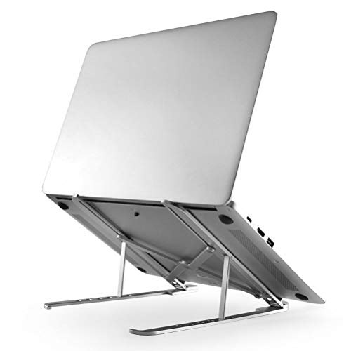 HXPH Vertical Laptop Stand-Portable Adjustable Notebook Cooling Rack Aluminum Alloy Folding Notebook Stand For Windows & Mac Devices
