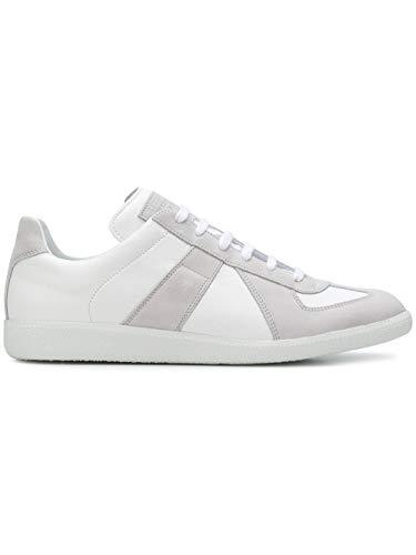 Maison Margiela Luxury Fashion Uomo S57WS0236P1897101 Bianco Pelle Sneakers | Autunno-Inverno 20