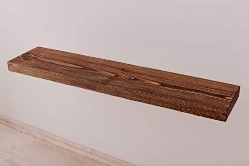 Larisa Rustikal Wandregal Dunkle Eiche mit Wachs Bedeckt Verschiedene Längen (80x18)