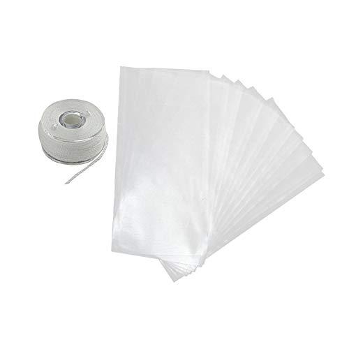 50 PCS Wasserlösliche Baits Bag PVA Bag Karpfenfutter-Beutel Non Rückstand Dissolving Schnell Lure Taschen