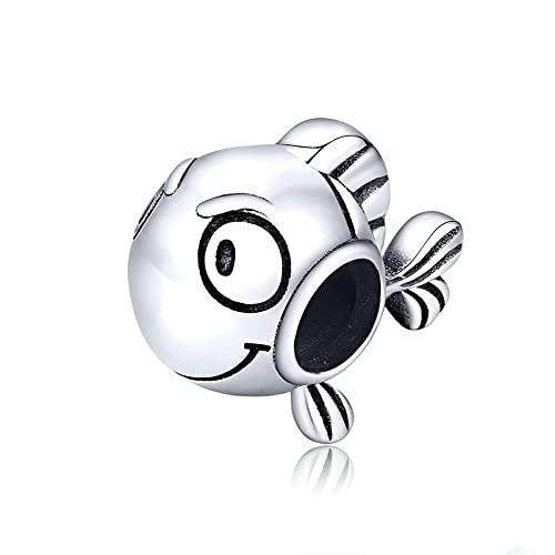 LIJIAN DIY 925 Sterling Jewelry Charm Beads Clownfish Metal Make Original Pandora Collares Pulseras Y Tobilleras Regalos para Mujeres