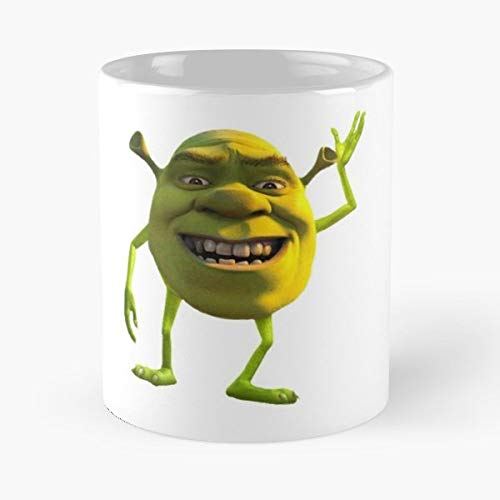 92Wear Shrek Mike Wazowski Monsters Inc Crossover Merge Meme - Best 11 oz Taza De Café - Taza De Motivos De Café