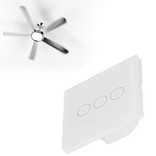 Interruptor de luz inteligente WiFi, enchufe de la UE 100‑240V AC Control elegante del ventilador de techo, para la oficina en casa de la fan