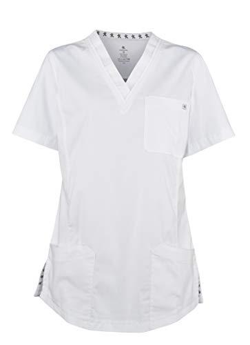 MEDANTA Sulo Damen Kasack White Weiß XS- medizinische Berufsbekleidung, Pflege, Kosmetik Kittel, OP Kleidung