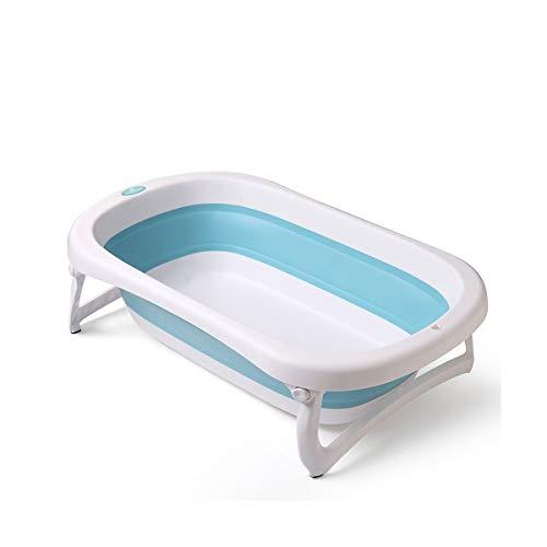 Baignoire Pliable pour bébé - Léger et Robuste, idéal pour Un Rangement Facile par Babyhugs (Bleu/Rose)