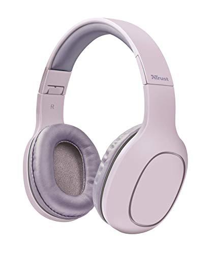 Trust Urban Dona Auriculares inalámbricos con tecnología Bluetooth, Rosa