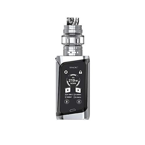 SMOK Morph 219 KIT 219W TF vaporizzatore 6ML atomizzatore sigaretta elettronica Touch Screen Box Mod Vape Enthält einen BTKSY-Schlüsselbund, kein Nikotin und kein Rauchöl. (Prism Chrome and Black)