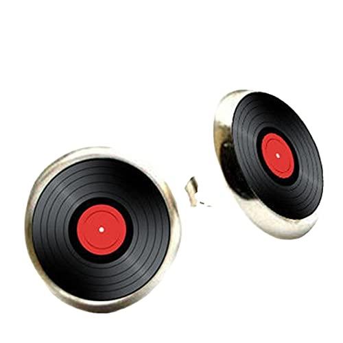 Pendientes de vinilo con diseño de música retro, regalo para ella
