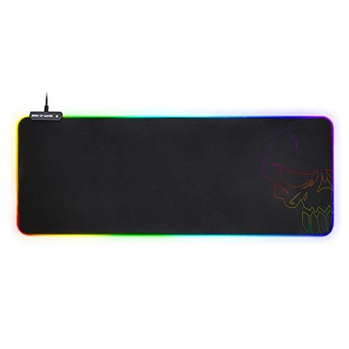 Spirit Of Gamer – Tapis DE Souris RGB XXL - Rétro-Eclairage LED Lumineuse 10 Modes + RGB Colors – Texture Ultra Fine – Base Antidérapante – Dim : 85.7 x 33 x 0.5 cm - PS4 / Xbox One/PC