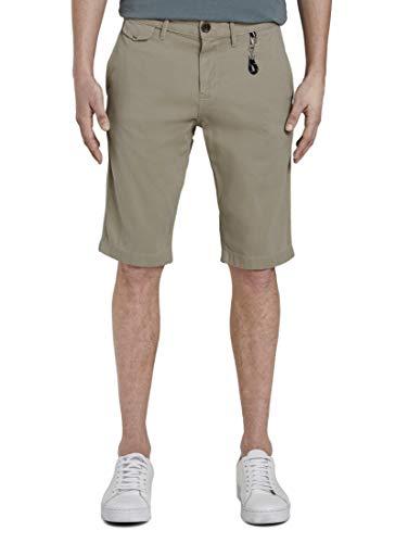 Tom Tailor Chino Shorts Pantaloni, 11032/Cashew Beige, 32W Uomo