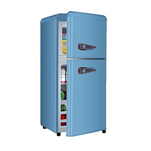 Mini Refrigerador Retro, Congelador Multifuncional, Refrigerador Para Almacenar Helados Y Alimentos, Ahorro De Energía Y Ahorro De Energía, Diseño De Dos Puertas, Para Oficinas, Dormitorios, Hoteles