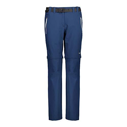 CMP Damen Hose Woman Stretch Long Pant Zip Off 3T51446 Blue-Stone 48
