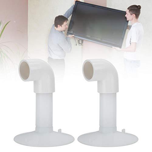 Omabeta Ventosa De Plástico, Ventosa De Plástico Blanco Multiusos Resistente con 2 Curvas para Amueblar Y Quitar Herramientas
