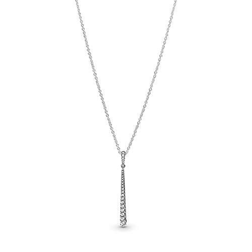 Pandora Jewelry - Sparkling Stones Pendant Necklace in Sterling Silver with Clear Cubic Zirconia, 23.6 IN / 60 CM