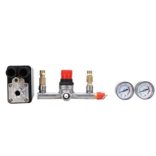 Yongenee 90~120 PSI 220V Interruptor de presión, Controlador automático del compresor de Aire del Interruptor de la válvula de presión para el compresor de Aire de un Solo Orificio