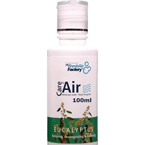 Fragranza per purificatore d'aria - CareforAir Eucalipto Essenza 100mL -buona per Asmatici - Rinfrescante, rinfrescante Mentolo Smell - Sollievo Mentale Esaurimento E Stress - Rimedio Contro Bronchite, Catarro, Raffreddore, Fever, Tosse, Influenza, Circolazione & Sinusite - USO IN NINFEA, IONIZZATORI, UMIDIFICATORI - 100% Prodotto Soddisfazione Garanzia
