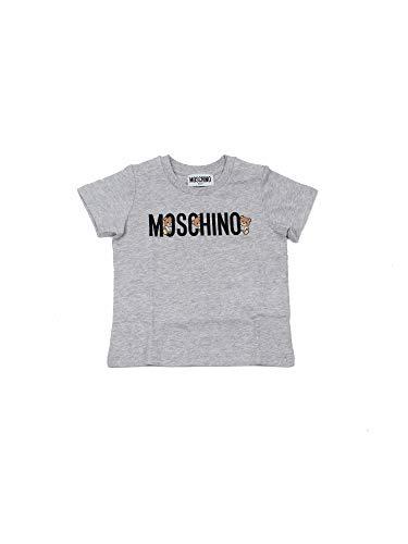 Moschino T-Shirt Bambino Stampa Logo e Orsetti Grigio MTM021 LAA0860926 2 A