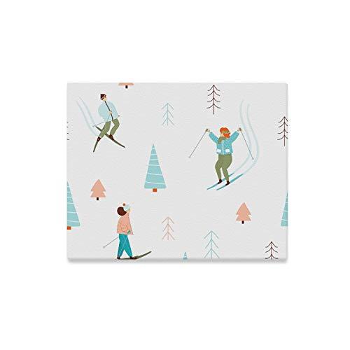 Yushg Junge Wanddekoration Graceful Skiing Action Wandfarbe Für Kinder Wände Farbe Druck Dekor Für Zuhause 20x16 Zoll