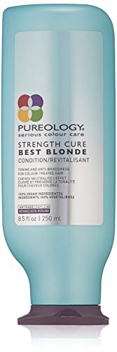 Pureology Strength Cure Best Blonde Purple Conditioner | Restore & Tone | Sulfate-Free | Vegan | 8.5 oz.