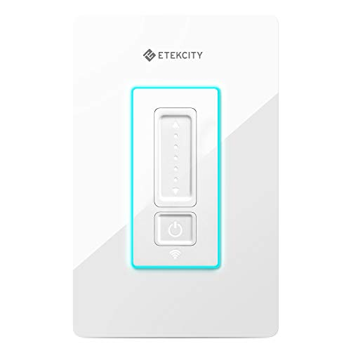 Etekcity Smart Dimmer WiFi Light Switch with RGB Nightlight Neutral Wire Required, Works with Alexa, Google Home and IFTTT, FCC/ETL Listed