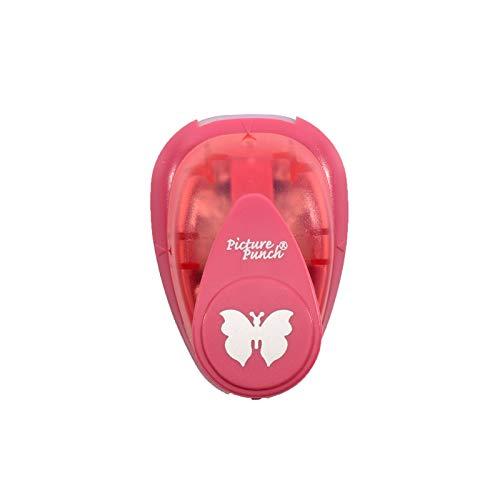 Vaessen Creative Motivstanzer Schmetterling 4, Small, Motivlocher aus Metall und Plastik, Ausgestanztes Motiv 15,5 x 12,2 mm, zum Basteln mit Papier