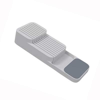KHGDNOR Plastic messenblok houder Drawer Messen vorken Lepels opslag Rack Knife Stand kabinet Tray Kitchen cultery Organizer (Color : A grey)