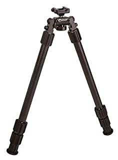 """Caldwell Accumax Premium Carbon Fiber Pic Rail Bipod with Twist Lock Quick-Deployment Legs for Mounting on Long Gun Rifle for Tactical Shooting Range and Sport, 13""""-30"""", Black (B07KSGMBP4) 