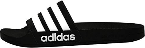 adidas Men's Adilette Shower Slides, Black/White/Black, 10
