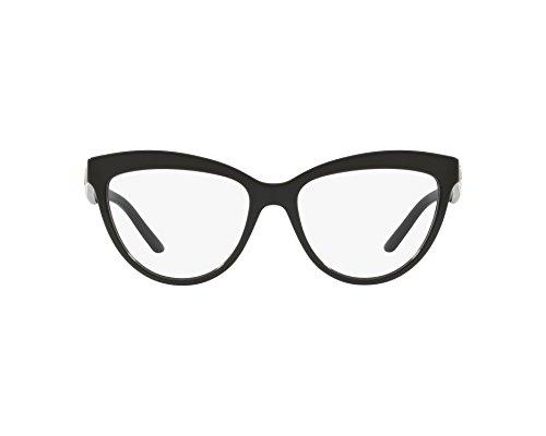 BURBERRY - Montura de gafas - para hombre Negro Glã¤nzend Schwarz - Bedruckt Weiãÿ XS