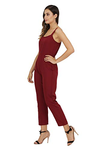 Usa Fantasy Women'S Knee Length Jumpsuit (Bmjsolid05Mrn-S_Maroon_Small)