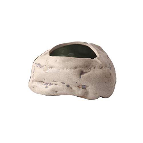 SXLML Aschenbecher ,Stein,aschenbecher Draußen,Der Geruchsdichte Aschenbecher ,14,5 * 6 cm (Color : Brown)