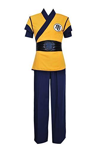 XOMO Dragon Ball Z DBZ Goku Cosplay Costume Yellow Full Set S