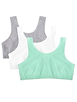 Fruit of the Loom Women s Built Up Tank Style Sports Bra Mint Chip/White/Grey Heather 50