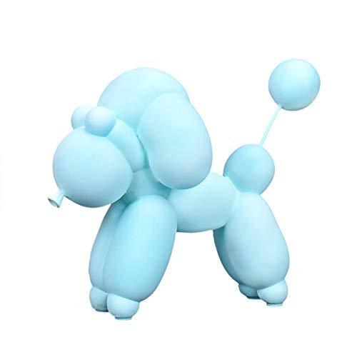 Chica Corazón Moderno Simple Decoración para perros con globos Salón estadounidense Vinoteca Muebles para gabinetes Decoración con pantalla Regalo de cumpleaños con globos para perros (azul claro)