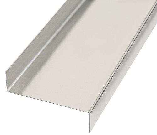 GAH-Alberts 462956 Glattblech, gekantet, Z-Form - Aluminium, natur, 1000 x 18 x 63 x 18 mm