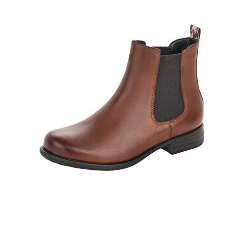 Remonte Damen Stiefeletten, Frauen Chelsea Boots, Freizeit leger Stiefel halbstiefel Bootie flach Lady,Braun(Chestnut),39 EU / 6 UK
