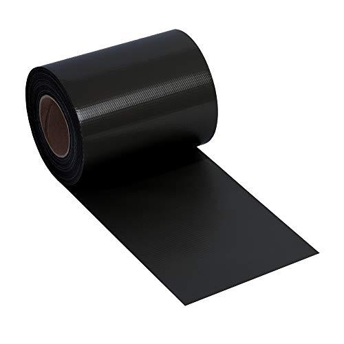 NOOR Zaunblende PVC Basic 450 g/m² Anthrazitgrau I 0,19 x 35 m I Der ideale Sichtschutz für Ihren Doppelstabmattenzaun I Sichtschutzstreifen in vielen Farben I Witterungsbeständig