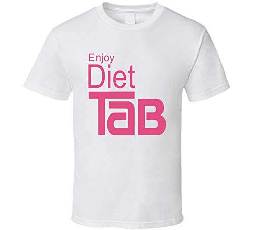 ASDFGB Enjoy Diet Tab Sugar Free Cola Soft Drink Soda Pop T Shirt White