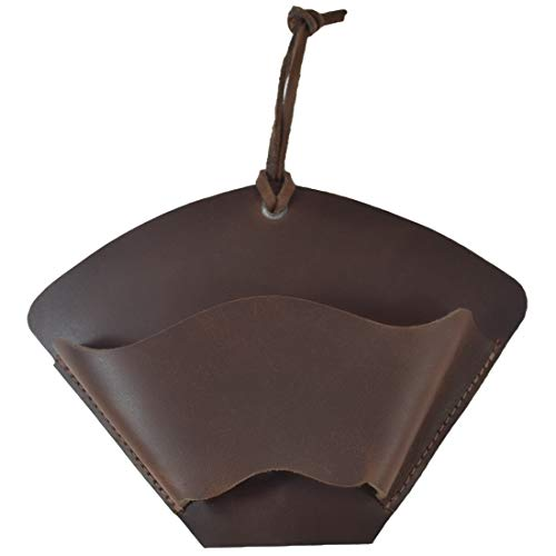 Hide Drink Leather Coffee Filter Holder Storage Box Hanger Home Kitchen Essentials Handmade Includes 101 Year Warranty  Bourbon Brown