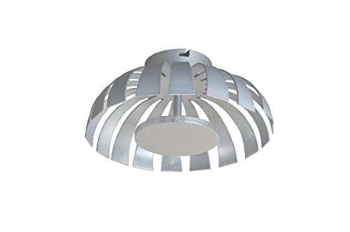 Luce Ambiente Design 9017 L SI A+, Wohnraumleuchte, Metall, 24 watts, Silber, 35 x 35 x 12.5 cm