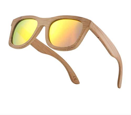 Nobrand Retro Men Sun Glasses Women Polarized Sunglasses Bamboo Handmade Wood Sunglasses Beach Wooden Glasses