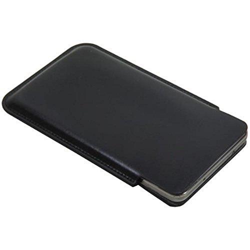 andyhandyshop Echt Ledertasche für Samsung Galaxy A11 A71 A42 Ultra Slim Handytasche Lederetui ohne Schlaufe schwarz