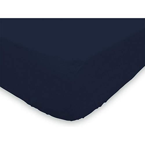 Soleil d'Ocre 611205 Drap Housse Jersey Coton Bleu Marine 90 x 190 cm