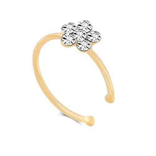 Botreelife Plum Nose Ring Open Nose Ring Hoop 10Mm Cartilage Piercing,Style 1