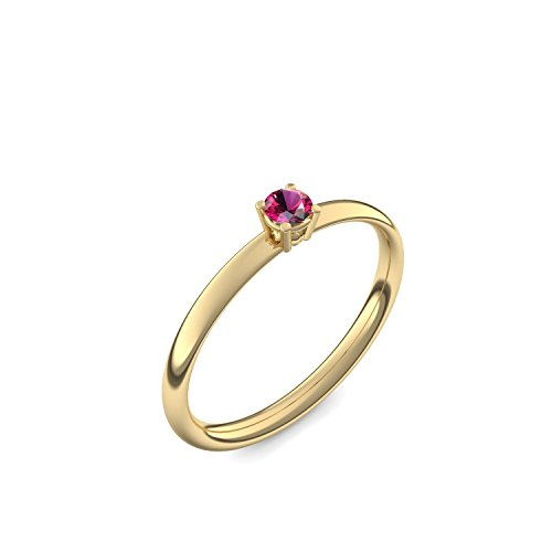 585 Goldring Rubin (sehr hochwertig!) + inkl. Luxusetui + - Goldringe Rubin Ringe (Gelbgold 585) - Concinnity Amoonic Größe 54 (17.2) AM161 GG585RUFA54