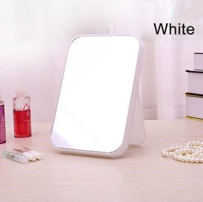 Bluelover Pliage Maquillage Miroirs De Bureau Cosmétiques Outils De Toilette Miroir Maison Pliée Beauté - Blanc