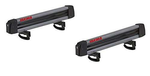 YAKIMA - FreshTrack 6 Ski & Snowboard Mount, Fits Up to 6 Pairs of Skis or 4 Snowboards, Fits Most Roof Racks