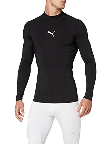 Puma Liga Baselayer LS Warm T-Shirt, Hombre, Black, S
