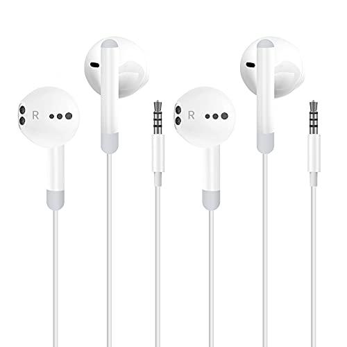 Auriculares cableados Audio Estéreo Auriculares In-Ear con Auriculares de 3.5mm Plug Micrófono...